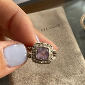 David Yurman Petite Albion Ring -Purple / Diamonds